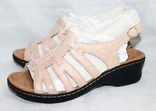 717f28a38de8e NWOB CLARKS Lexi Marigold Q Wo s 10XW Sand Sable Slingback Strappy Sandal