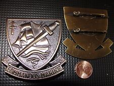 Insigne de béret neuve des Commandos de Marine / fusilier marin commando