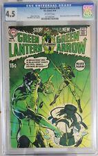 GREEN LANTERN # 76 - CGC 4.5 - DC - GREEN LANTERN/GREEN ARROW stories begin.