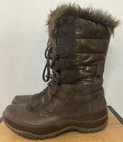 THE NORTH FACE Nuptse Purna Winter Boots Womens 9 200 Gram Faux Fur NICE