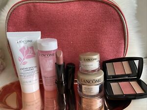Lancome 7 Pc TRAVEL SET ABSOLUE FACE,EYES,CLEANSER, TONER, AND MORE