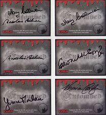 Hammer Horror Entombed Rare 6 Card Auto Autograph Set