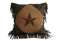 Western Pillow Star Hiend Accent Home Rustic Decor Couch Bedroom Cabin Lodge New