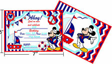 Nautical mickey mouse happy birthday party decoration supplies invitation