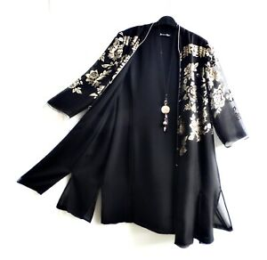JACQUES VERT Black Silk Evening Jacket