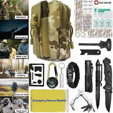 40 in 1 Camping Survival Tools Kit Outdoor Tactical Military Gear EDC Pouch Bag