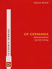 Scuderia Ferrari F1 Media Book - German Grand Prix 2004 Driver Stats & Bios