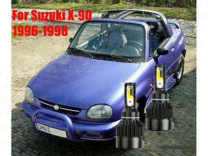 LED For Suzuki X-90 1996-1998 Headlight Kit H4/9003 6000K CREE Bulbs HI/Low Beam