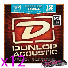 Jim Dunlop 12/54 Medium Phospher Bronze Acoustic Guitar Strings - Box of 12