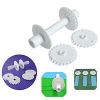 Fondant Strip Ribbon Cutter Sugarcraft Tool Cake Rolling Pin Embosser Roller Set