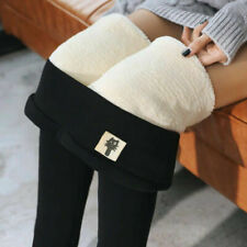 Us Women Winter Warm Fleece Velvet Pants Lined Thermal Thick Slim Leggings Pants