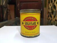 1940s Vintage WD & HO Wills Gold Flake Honey Dew Cigarette Round Tin Box - Top