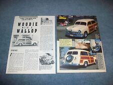 "1951 Ford Country Squire Wagon Street Rod Article ""Woodie with a Wallop"""