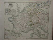 1846 SPRUNER antique historical map ~ framce république sud vendée suisse