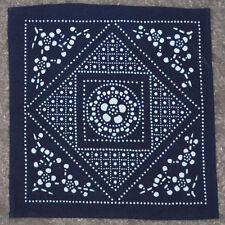 Hand Gefärbter Baumwolle Blumen Taschentuch Retro Halstuch Stirnband Quadrat