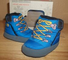 THE NORTH FACE Infant Baby Boys' NSE Booties Drummer Blue/TNF Yellow NIB sz US 2