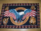 PRINT - AMERICAN EAGLE THEMED WALL CARPET - 87X132 CM good condition and solid