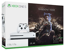 Microsoft Xbox One S Shadow of War 1 To Blanc Console
