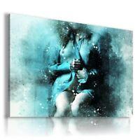 PAINTING DRAWING SEXY WOMAN CHAMPAGNE PRINT Canvas Wall Art R117 MATAGA