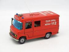 Siku 1/55 - Mercedes L406D  Pompiers Feuerwehr Unfall Notruf