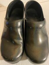Dansko Professional Stapled Clogs Iridescent Patent Leather Shoes 39 / 8.5-9