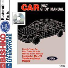 1987 Ford Lincoln Mercury Shop Service Repair Manual CD Engine Drivetrain OEM