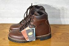 MENS BROWN LEATHER ALICO SUMMIT HIKING BACKPACKING BOOTS SZ 9 M MADE IN ITALY