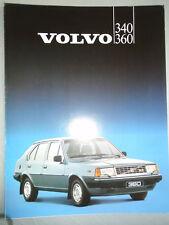 Volvo 340 360 range brochure 1983