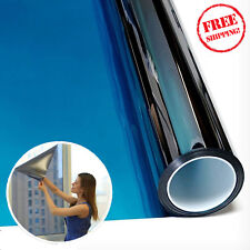 One Way Mirror Window Film Solar Heat Reflective Privacy Layer Tint 12in x 14ft