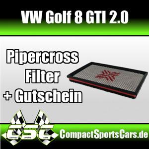 VW Golf 8/VIII GTI 2.0   Pipercross Sportluftfilter/Tauschfilter