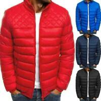Quilted Jacket Ultralight Outwear Men's Puffer Bubble Bomber Parka Padded Coat