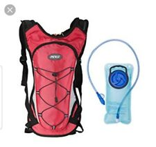 Pinty 2L Hydration Backpack Water Bladder Outdoor Climbing Hiking Cycling in Red