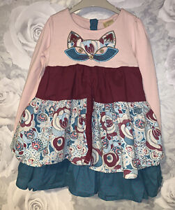 Girls Age 2-3 Years - Strawberry Faire Long Sleeved Dress