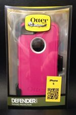 OtterBox Defender Series Dust/Scratch Protection Case For iPhone 5 - White/Pink
