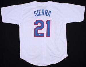 Ruben Sierra Signed Texas Rangers White Jersey (JSA COA) AL RBI leader (1989)