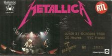 RARE / TICKET BILLET DE CONCERT - METALLICA : LIVE A PARIS ( FRANCE ) 1988