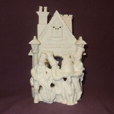 Bakery Carolers P7123 White Bisque Tealight Candle Holder Partylite Christmas