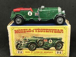 *HTF Matchbox Yesteryear Y5-2 Is. 7 Bentley -Silver Radiator Base B +*HTF D2 Box