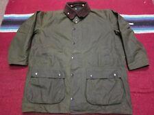 VTG Barbour Northumbria Waxed Cotton Rain Coat Jacket Olive C48 122cm XXL Mint !