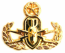 Master EOD Explosive Ordnance Disposal Metal Badge Insignia Gold Plated Pin