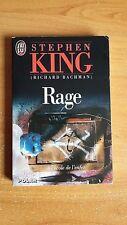 ROMAN RAGE de STEPHEN KING / BON ETAT / Roman rare car plus édité depuis 1997