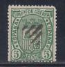 ESPAÑA (1875) USADO SPAIN - EDIFIL 154 (5 cts) ESCUDO DE ESPAÑA - LOTE 1