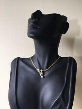 18ct. 18K. 750. Multi-Tone Gold. Pearl & Diamond 16.5 Inches(41.5cm)