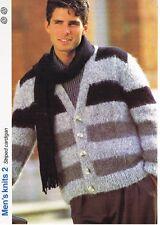 À Rayures Cardigan Knitting Pattern-Marshall Cavendish brochure MK2