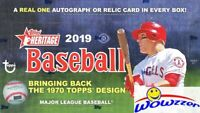 2019 Topps Heritage Baseball Factory Sealed HOBBY Box-AUTOGRAPH/RELIC+BOX LOADER