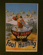 GOOFY~Mat Print~11 X 14~ FOUL HUNTING~A STUD WITH A SHOT GUN~NEW