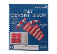 CHILDRENS DIY CROCHET SCARFE KIT EVERYTHING IN BOX TO MAKE YOUR OWN SCARFE