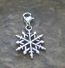 Eiskristall Charm Anhänger Bettelanhänger Eis Schmuck Bettelarmband Schneeflocke