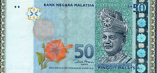 Malaysia RM50 Zeti ZB Replacement Banknote 10pcs R/N UNC