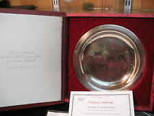 "1972 8"" SOLID STERLING SILVER PLATE-FRANKLIN MINT"